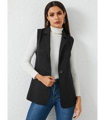 abrigo de manga corta de diseño corto yoins