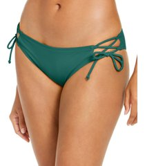 sundazed solid kylie tie-side strappy bottoms, created for macy's women's swimsuit