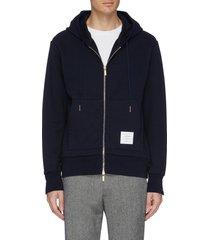 stripe back zip hoodie