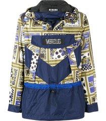 versus drawstring waist hoodie - blue