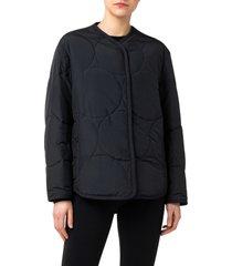 women's akris punto circle quilted jacket, size 8 - black