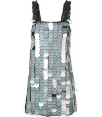 drome paillette-embellished dress - black