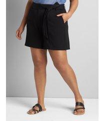 lane bryant women's perfect drape short with belt 20 black