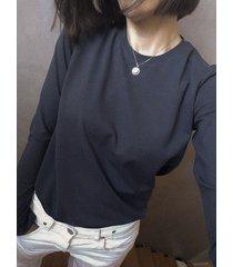bluzka malmo crew neck antracytowa longsleeve