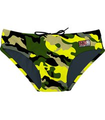 swim brief camouflage - fluo yellow
