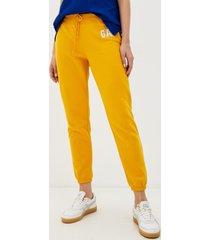 buzo jogger logo cintura elasticada amarillo gap