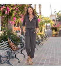 sundance catalog women's all roads jumpsuit in graphite xs