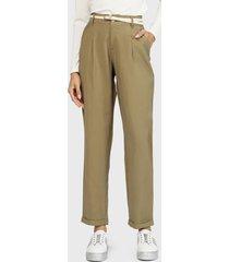 pantalón wados recto tiro alto  verde - calce ajustado