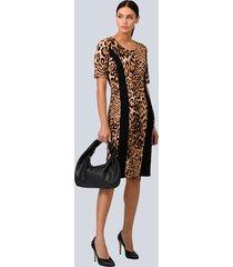 jurk alba moda zwart::bruin