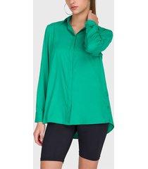 blusa io verde - calce holgado