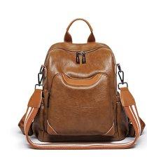 zaino multifunzione per il tempo libero in spalla in ecopelle borsa per donna