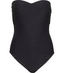 dd bandeau maillot baddräkt badkläder svart seafolly