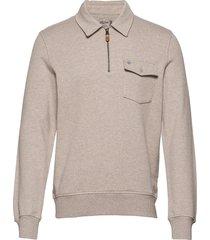 maurille half zip sweatshirt sweat-shirt trui beige morris