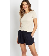 maurices womens navy dolphin 3.5in shorts blue