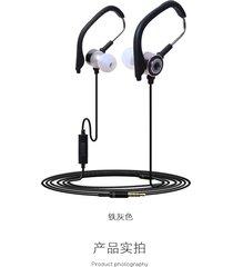 audífonos estéreo hd manos libres deportivos, kdk-45 hifi estéreo con cable de deporte en el auricular auriculares running earbuds earbuds (gris)