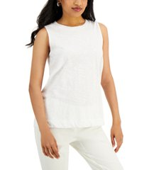 alfani petite solid high-neck tank top, created for macy's
