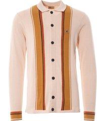 gabicci vintage 1973 tiller button through knit cardigan | oatmeal | v45gm11-oat