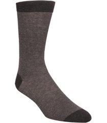 cole haan men's pique knit textured crew socks