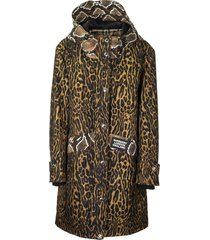 burberry animal print nylon twill parka