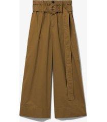 proenza schouler white label cotton paper bag pants 00524/brown 10