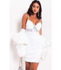 akira more than a feeling rhinestone corset dress