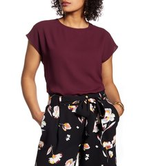 women's halogen cap sleeve blouse, size x-large - burgundy