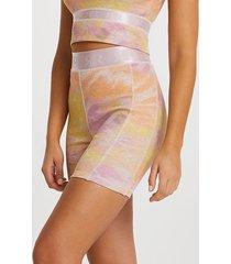river island womens pink intimates tie dye ribbed cycling shorts