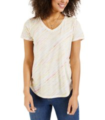 style & co burnout striped t-shirt, created for macy's