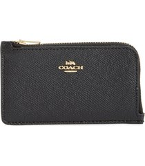 women's coach small leather zip card case -
