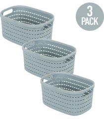 simplify 3 pack small basket weave storage tote