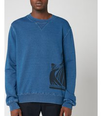 lanvin men's side logo sweatshirt - navy blue - xl