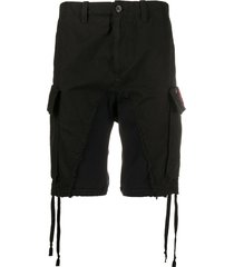 paul & shark panelled cargo shorts - black