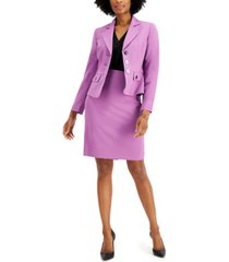 le suit notched-lapel skirt suit