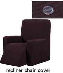 silla reclinable resistente al agua ala muebles sofá salón funda protector de la cubierta - chocolate