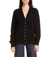 women's khaite amelia button front cashmere cardigan