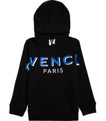 givenchy black cotton hoodie with logo print