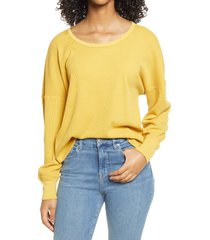 women's bp. washed thermal top, size xx-small - yellow