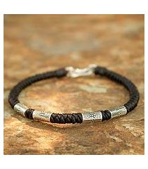 silver braided bracelet, 'hill tribe belle' (thailand)
