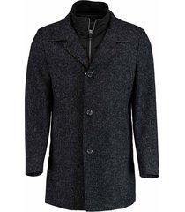 bos bright blue blue geke coat tweed 18301ge02sb/290 navy blauw
