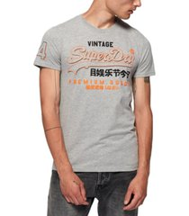 superdry men's premium goods outline t-shirt