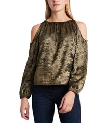 1.state cold-shoulder velvet top