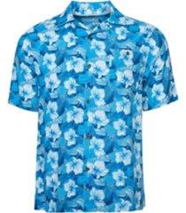 caribbean joe men's classic camp short sleeve island shirt