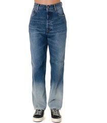 golden goose light blue cotton faded jeans
