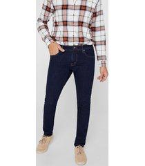 jeans slim medium rise azul esprit