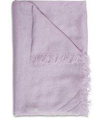 fabiana filippi lilac cashmere blend scarf with glitter detail