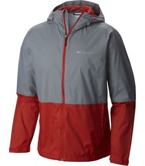 chaqueta  gris y rojo columbia roan mountain