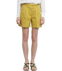 massimo alba mustard shorts