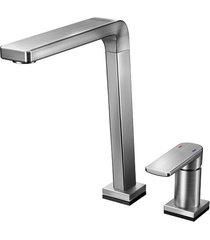 misturador monocomando para cozinha mesa bistrô tech sem ducha manual grafite escovado - 00699570 - docol - docol