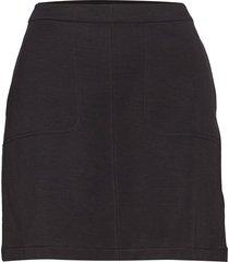 double face pocket skirt knälång kjol svart filippa k