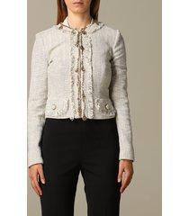 elisabetta franchi blazer elisabetta franchi jacket in cotton tweed
